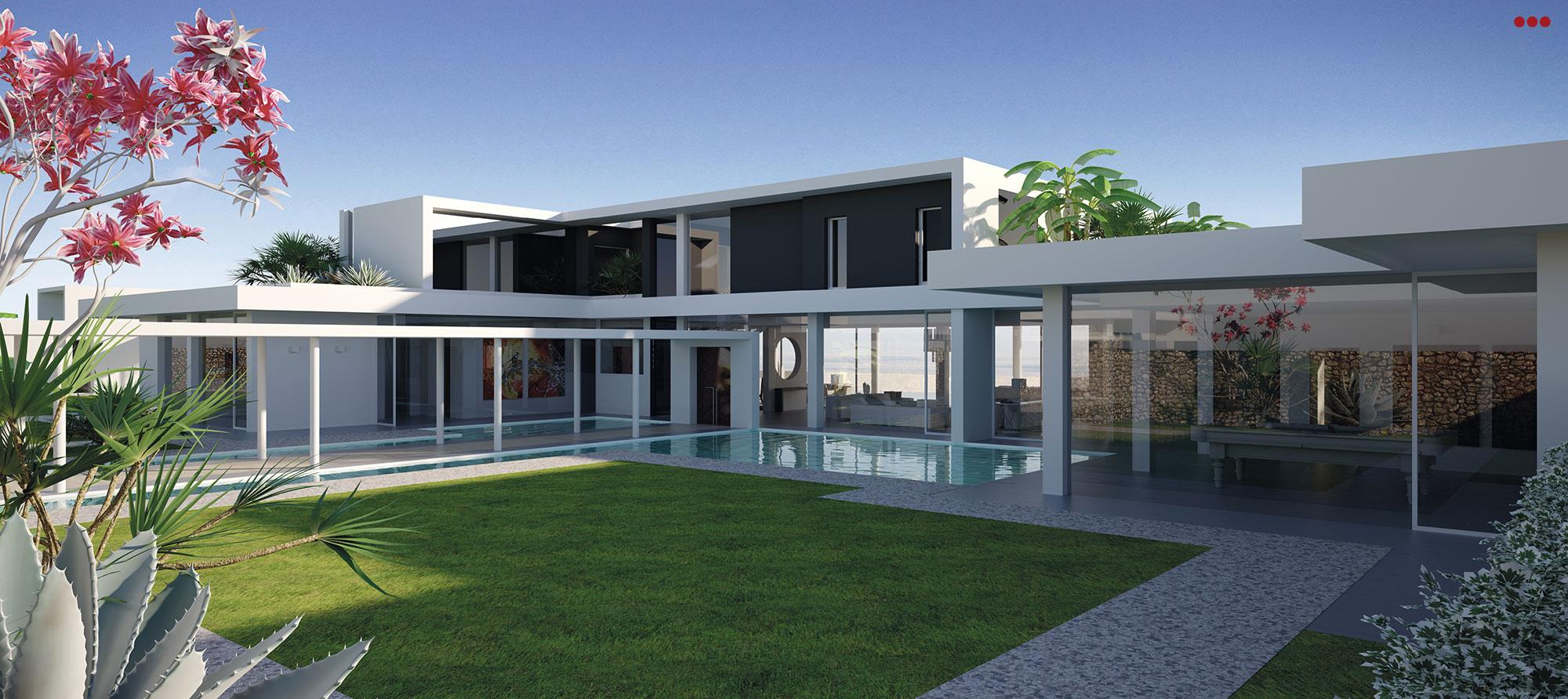 3D Studio Bartolini Villa Pemba progettazione rendering architettura grafica 4