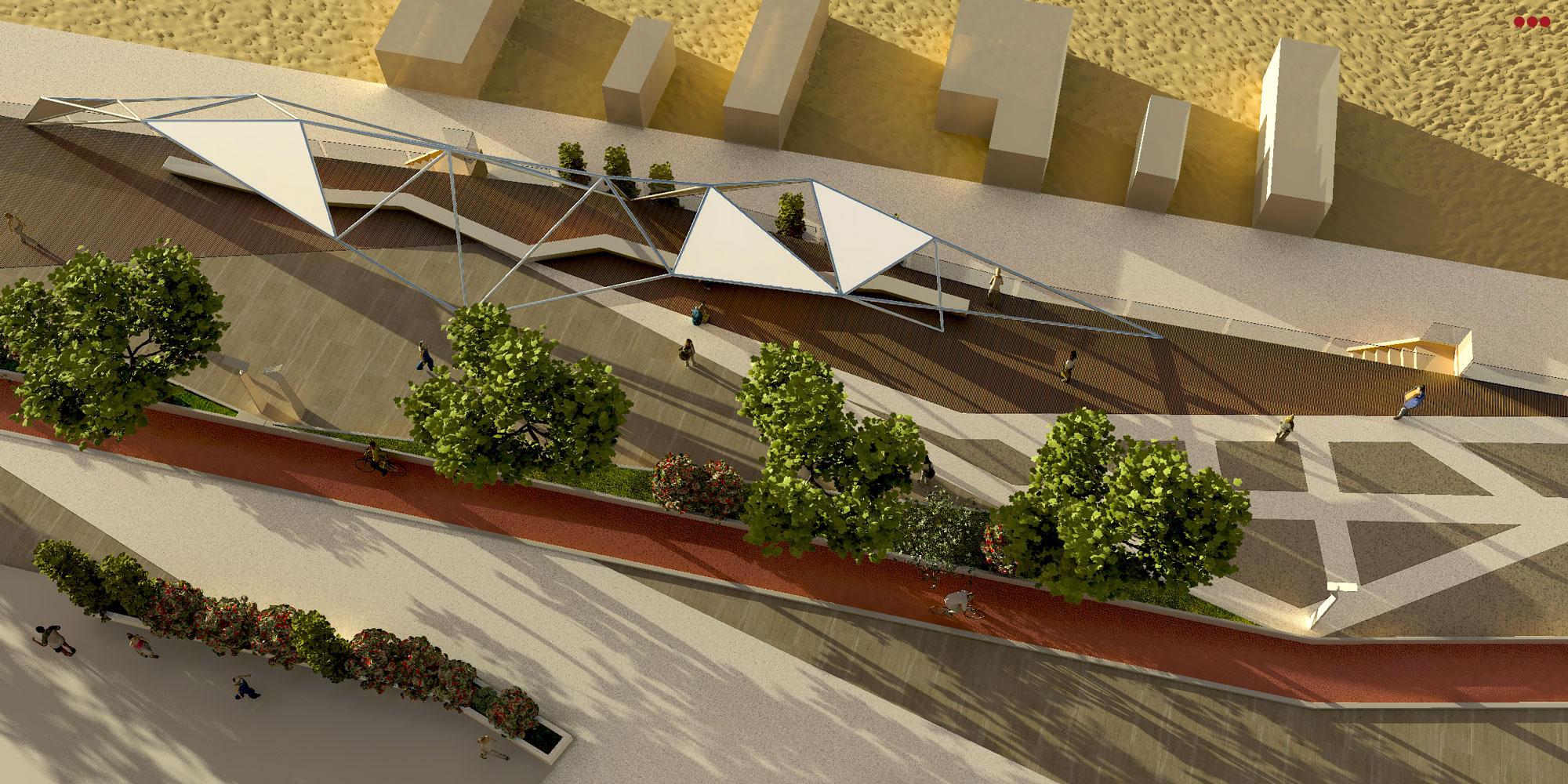 Progetto Rendering Modeling lungomare Cattolica Rimini 3D Studio Bartolini 1.1