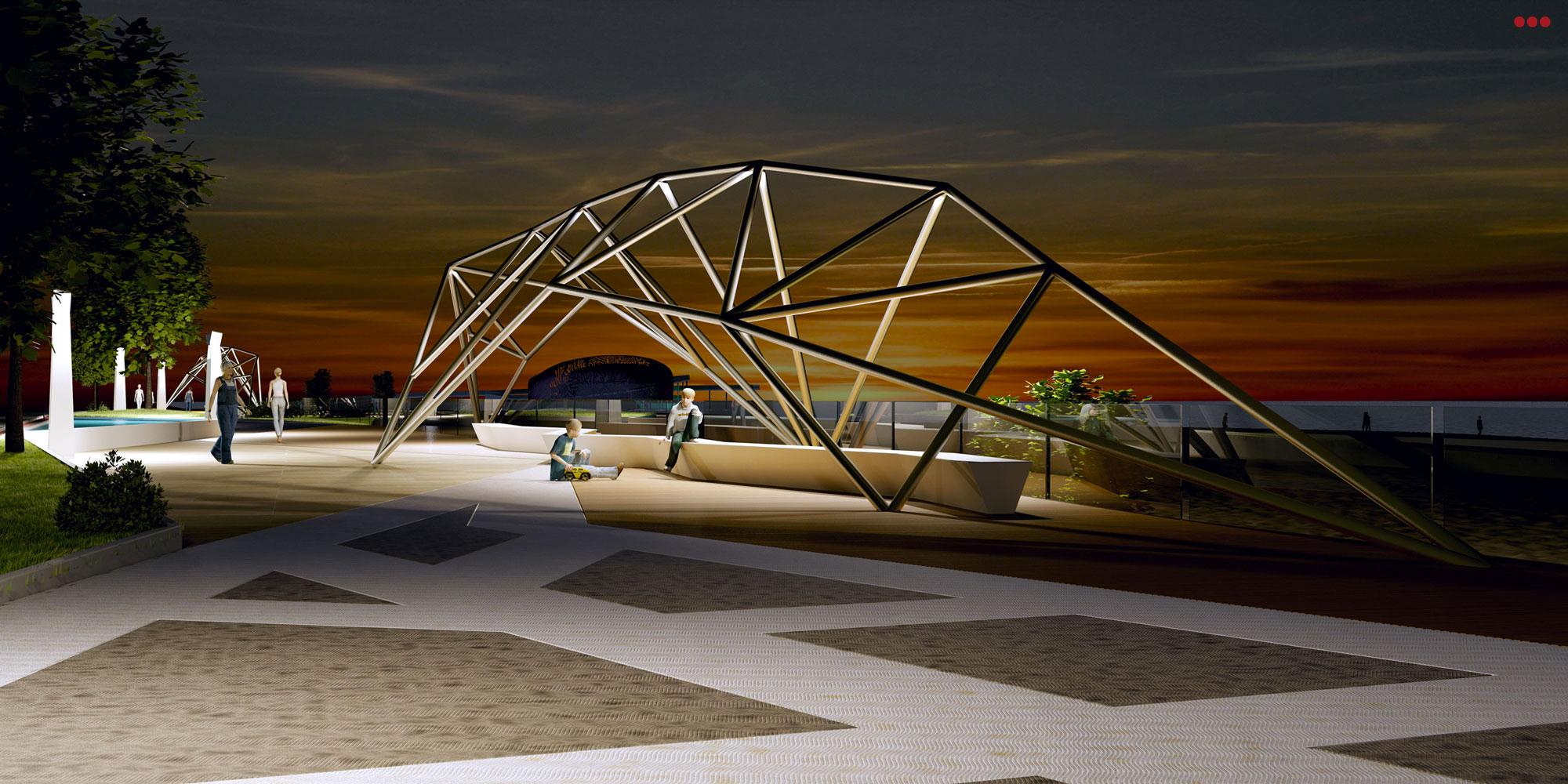 Progetto Rendering Modeling lungomare Cattolica Rimini 3D Studio Bartolini 2.1