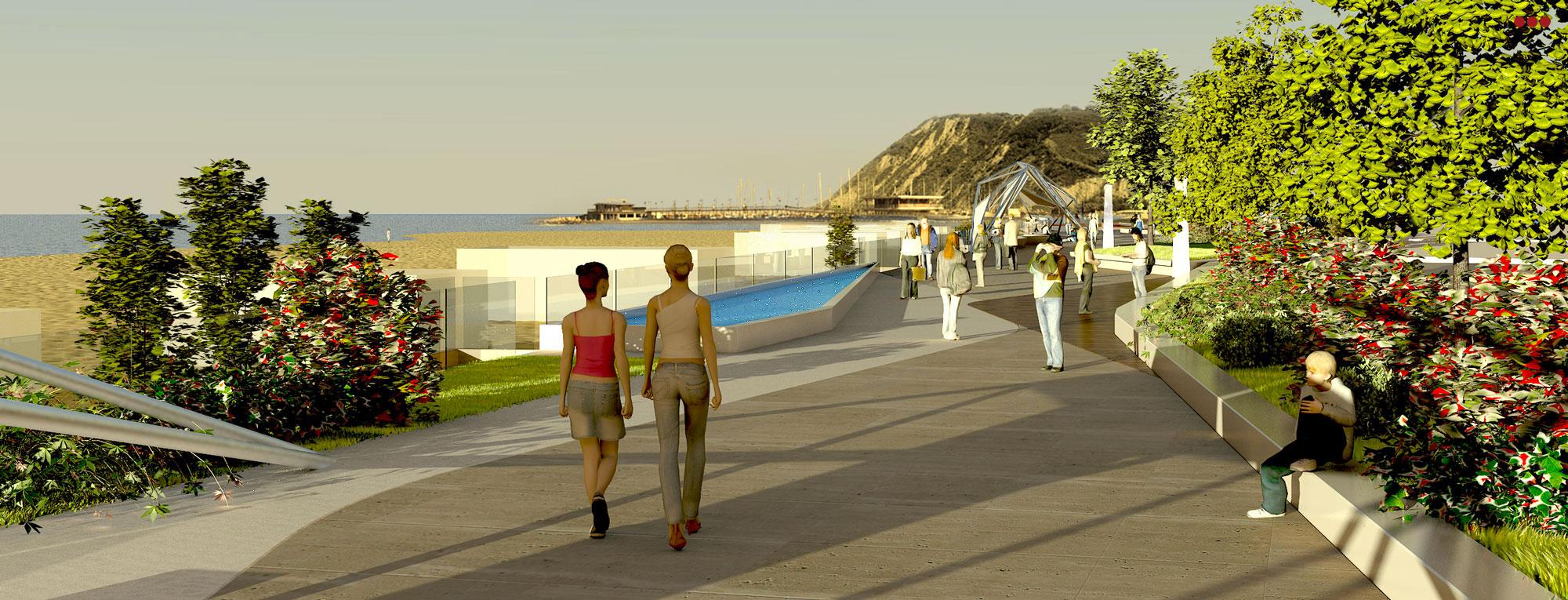 Progetto Rendering Modeling lungomare Cattolica Rimini 3D Studio Bartolini 4.1