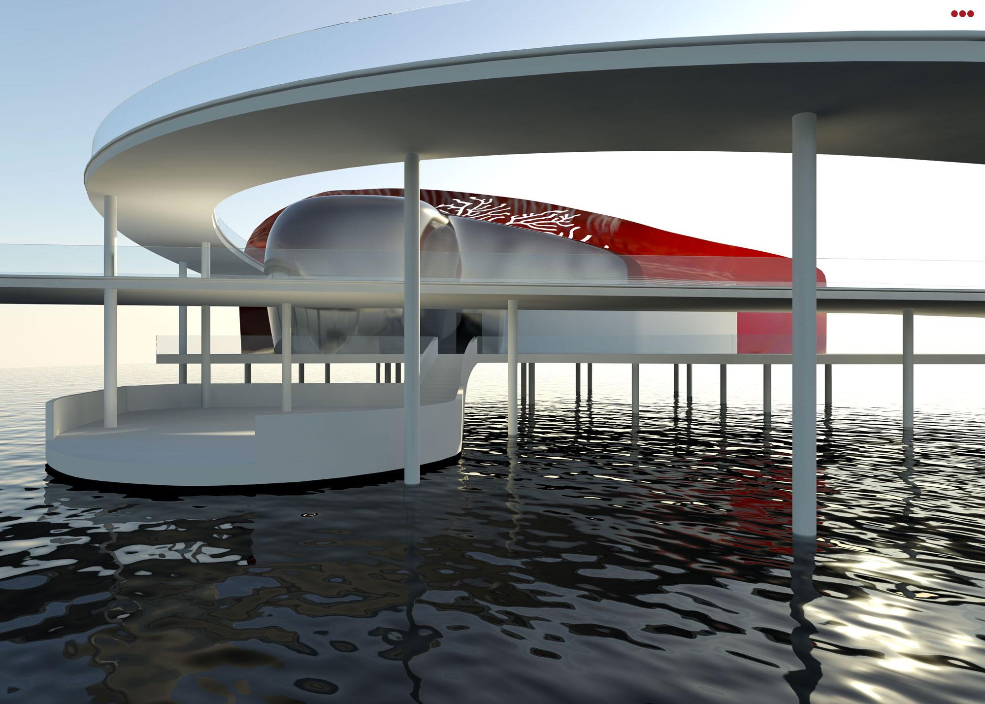 Surdio Bartolini progetto isola porto canale cattolica rimini grafica rendering modeling 3d 2
