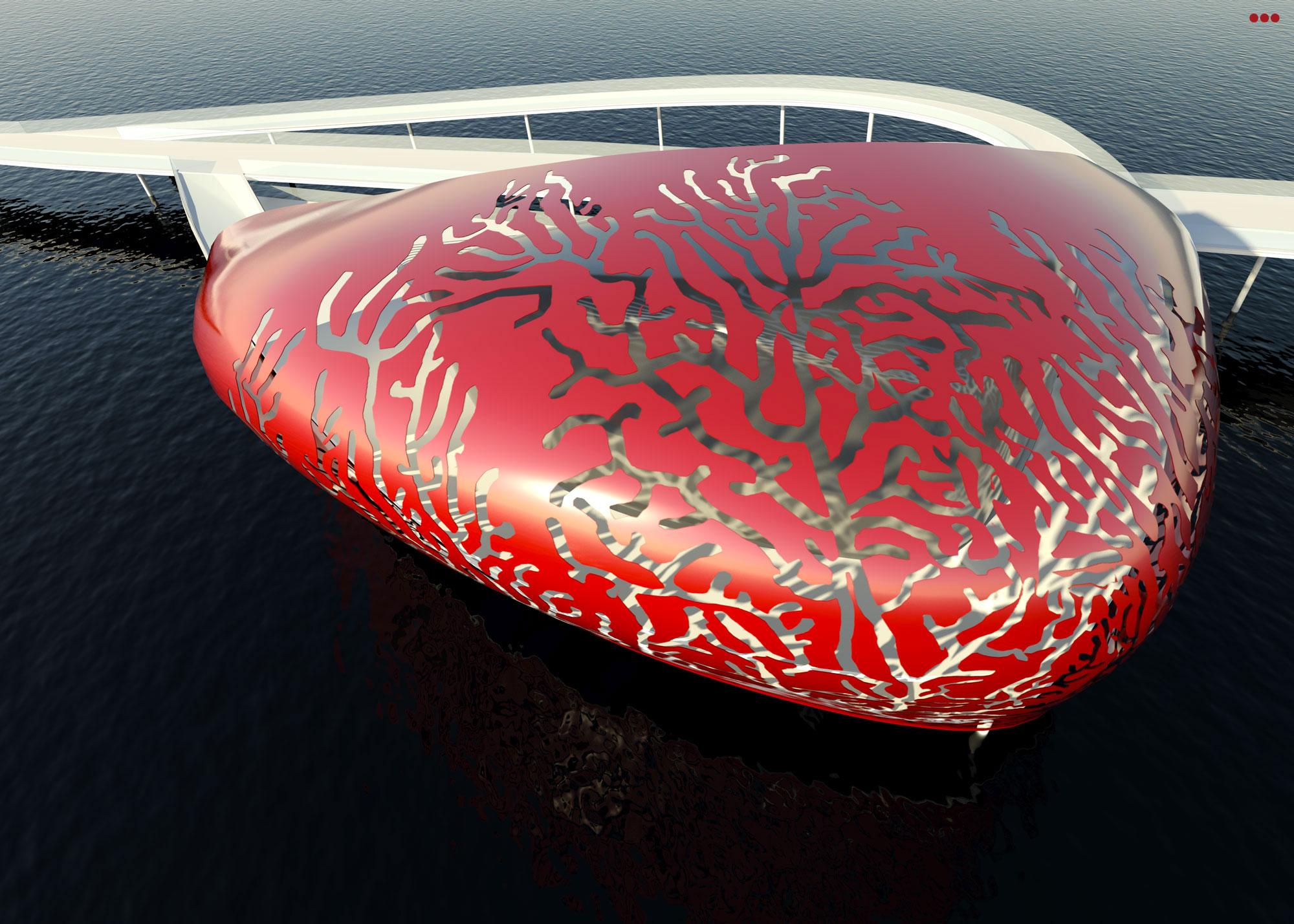 Surdio Bartolini progetto isola porto canale cattolica rimini grafica rendering modeling 3d 3