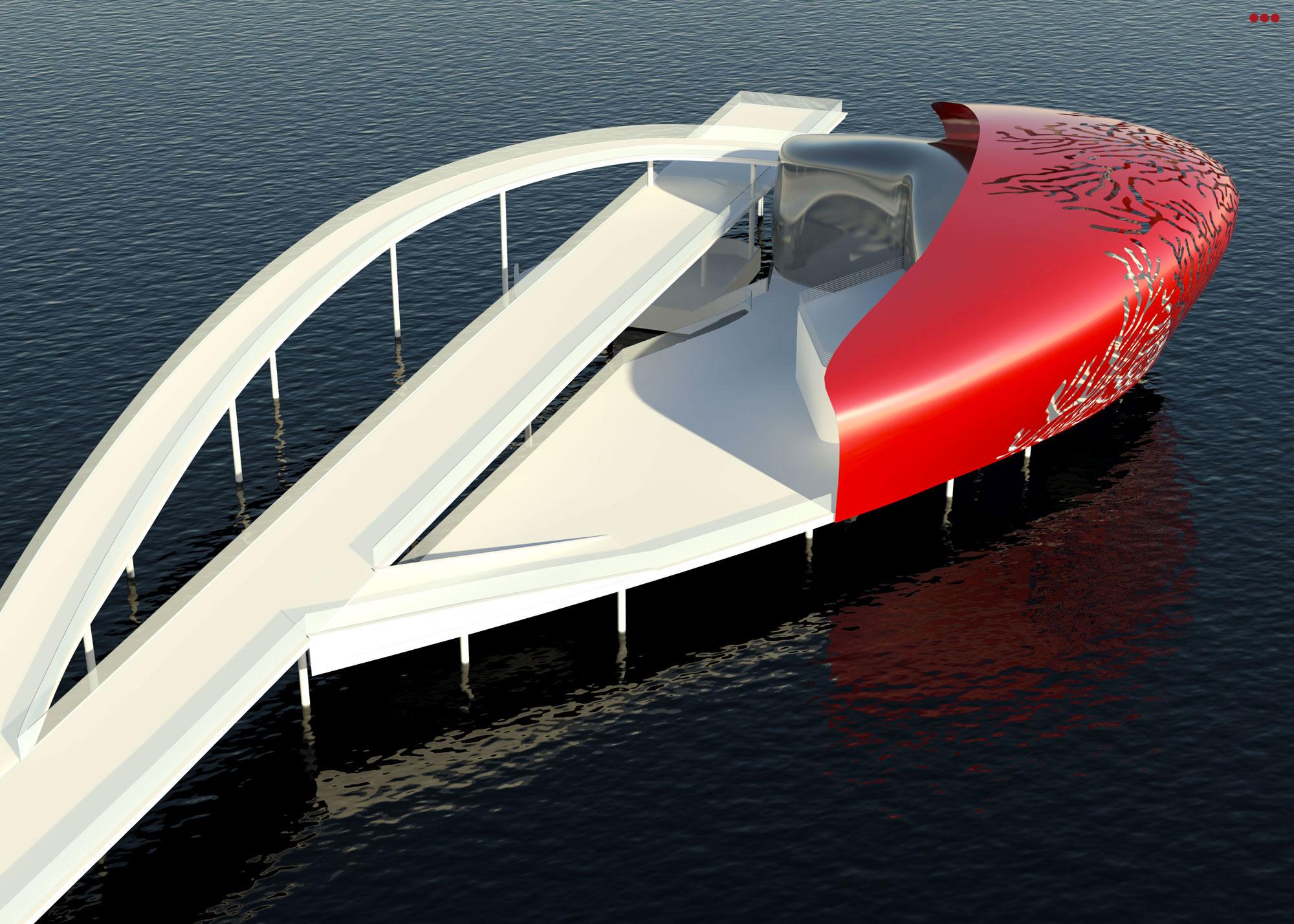 Surdio Bartolini progetto isola porto canale cattolica rimini grafica rendering modeling 3d 4