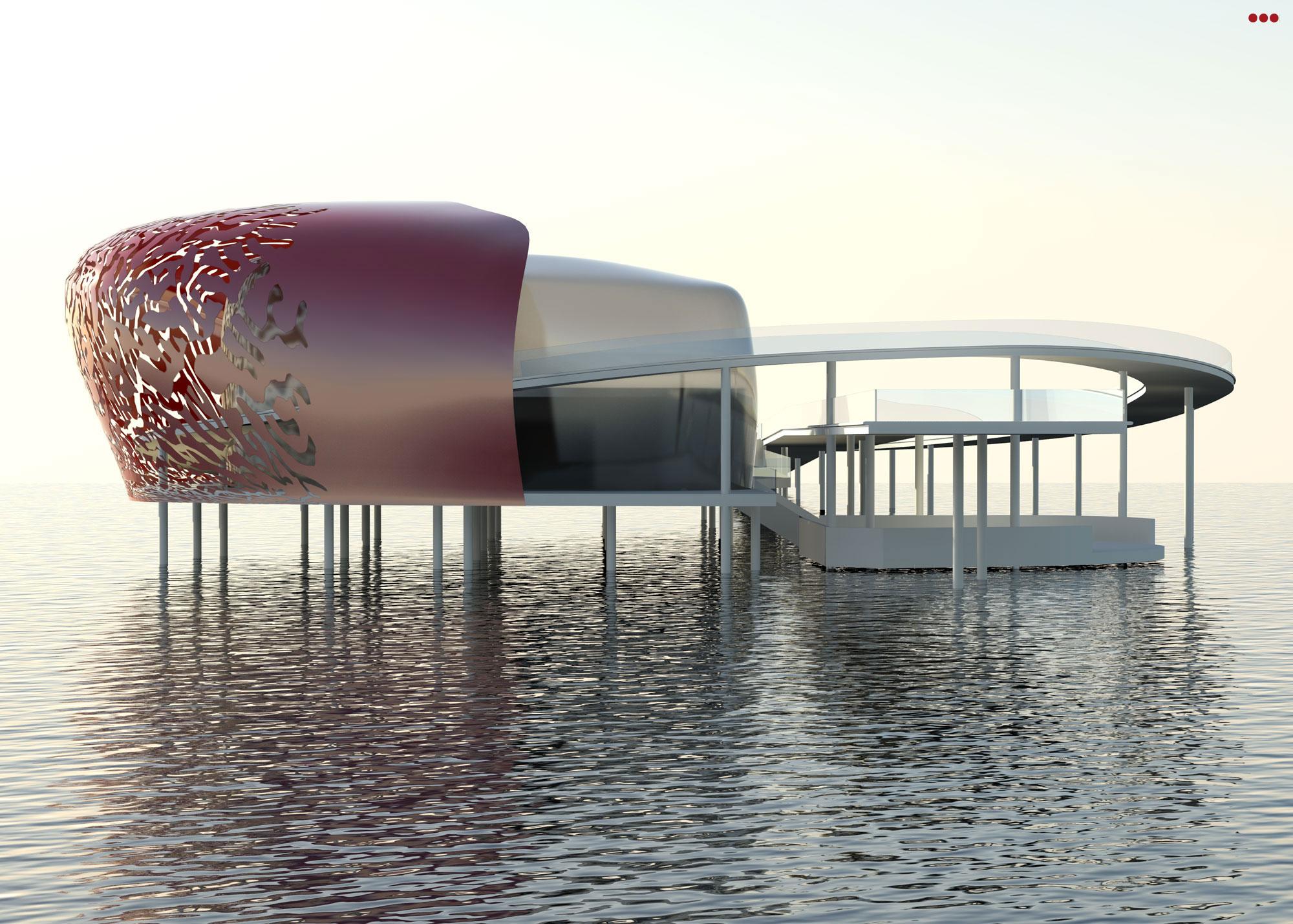 Surdio Bartolini progetto isola porto canale cattolica rimini grafica rendering modeling 3d 5
