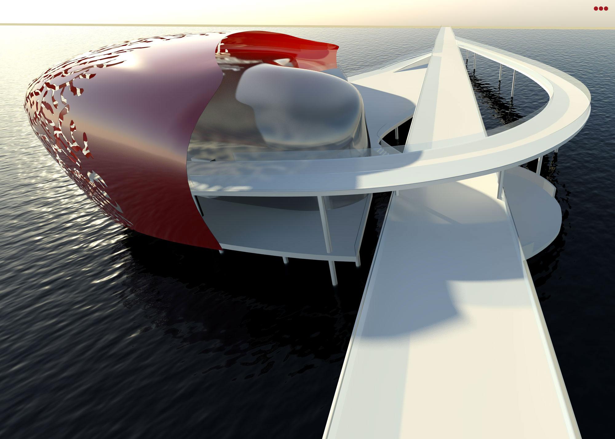 Surdio Bartolini progetto isola porto canale cattolica rimini grafica rendering modeling 3d 6