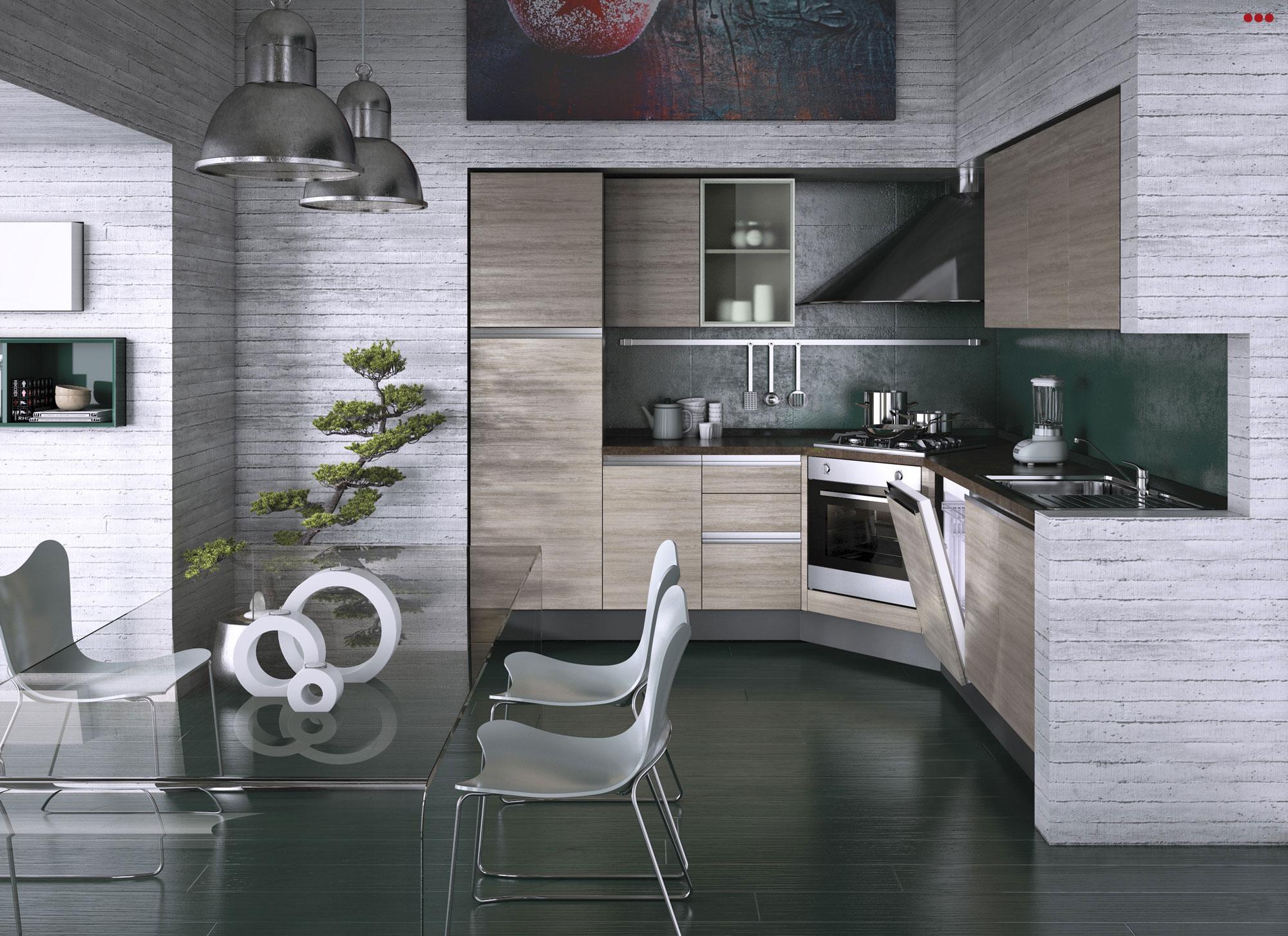 3D Studio Bartolini progettazione rendering cataloghi interior design cucina linea Main 1