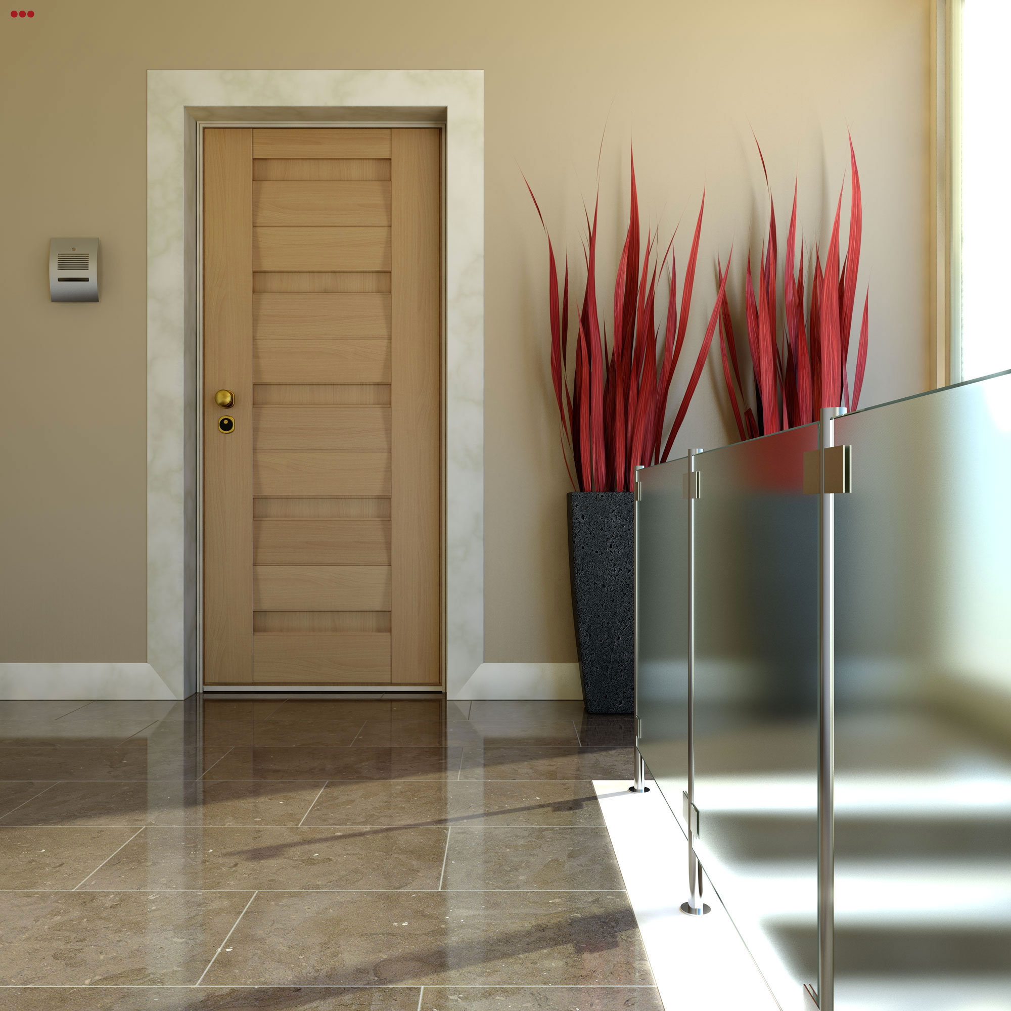 Rendering fotografico 3D modeling Studio Bartolini porte portoni entrata