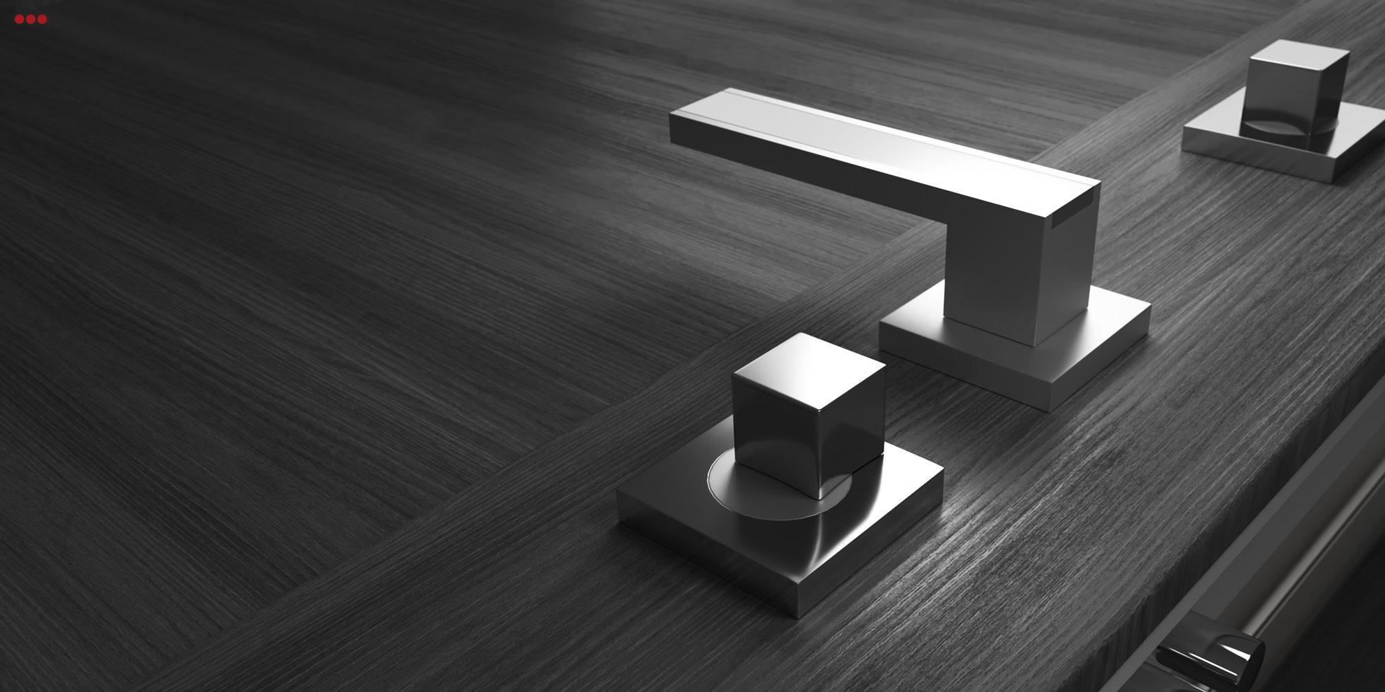 Rendering fotografico 3D modeling Studio Bartolini porte portoni particolare maniglia