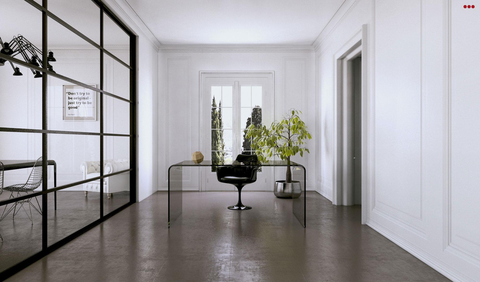 Studio Bartolini rendering fotografico modeling 3d ufficio area lavoro open space cam VFB Plus Main