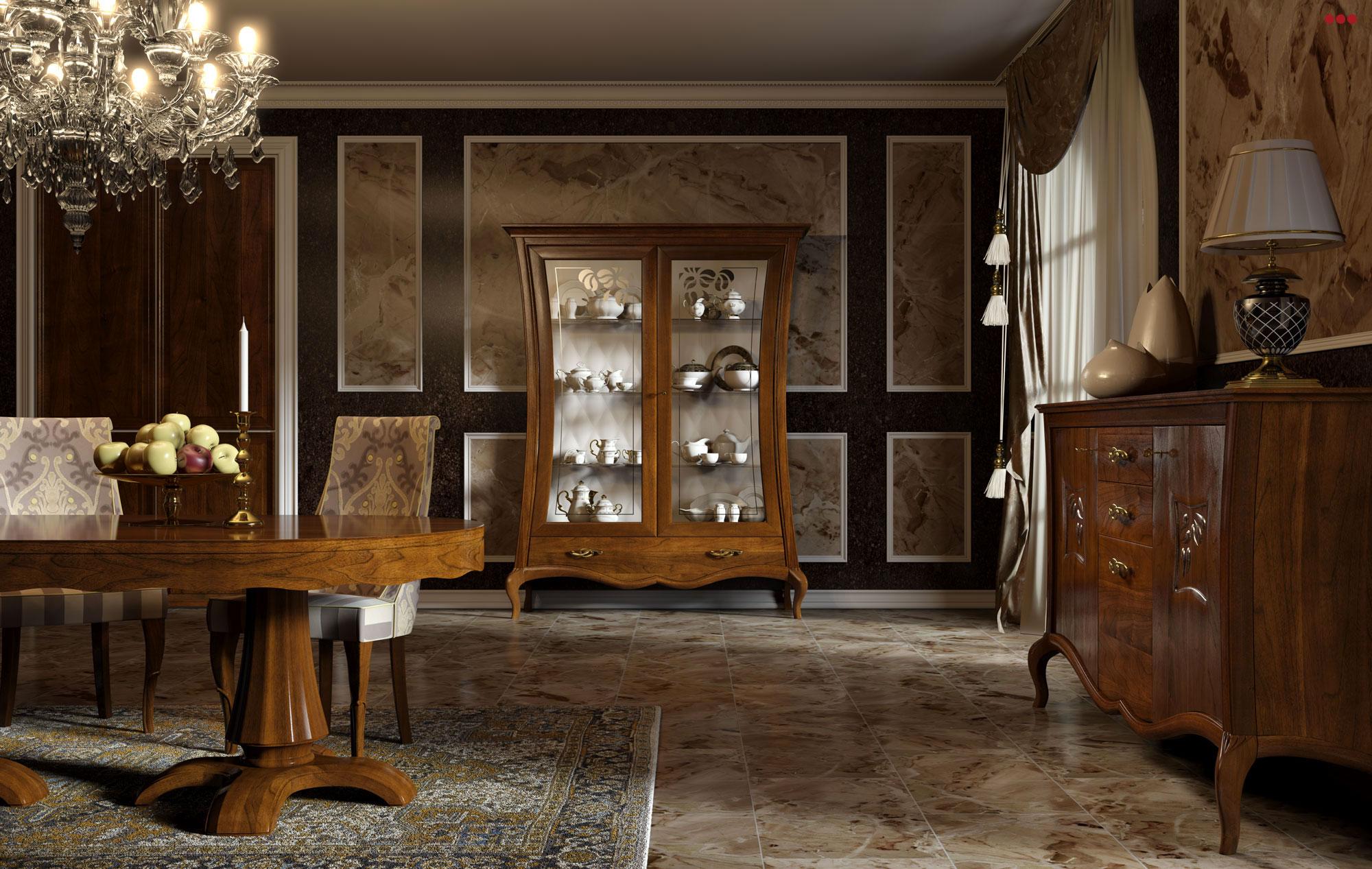 Studio Bartolini rendering grafico 3D catalogo Stilema La Dolce Vita 2012 mobile classico soggiorno C