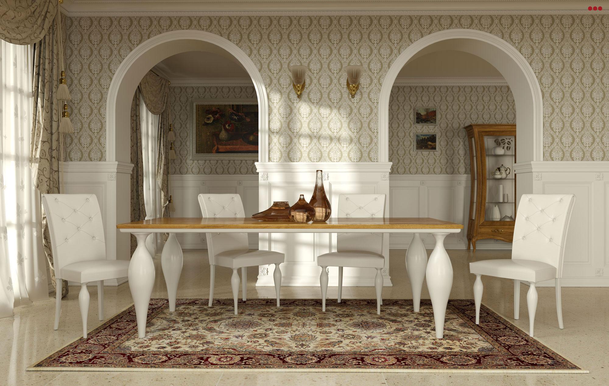Studio Bartolini rendering grafico 3D catalogo Stilema La Dolce Vita 2012 mobile classico tavolo sedie