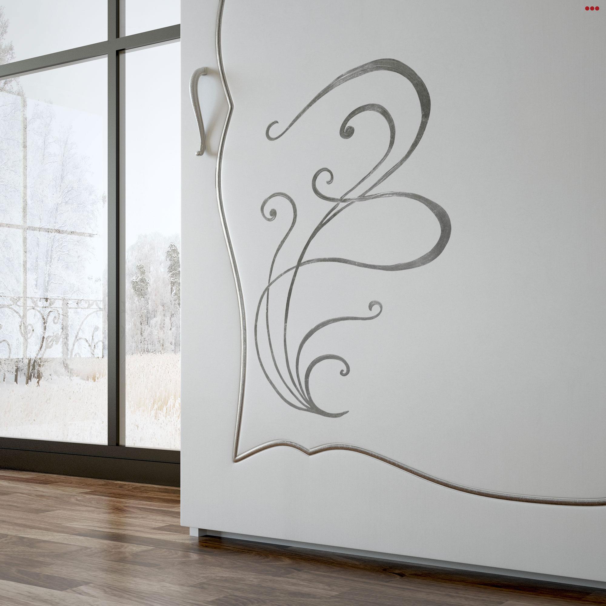 Studio Bartolini rendering progettazione 3d mobile classico catalogo euro design 2013 VFB Plus camera A parti armadio