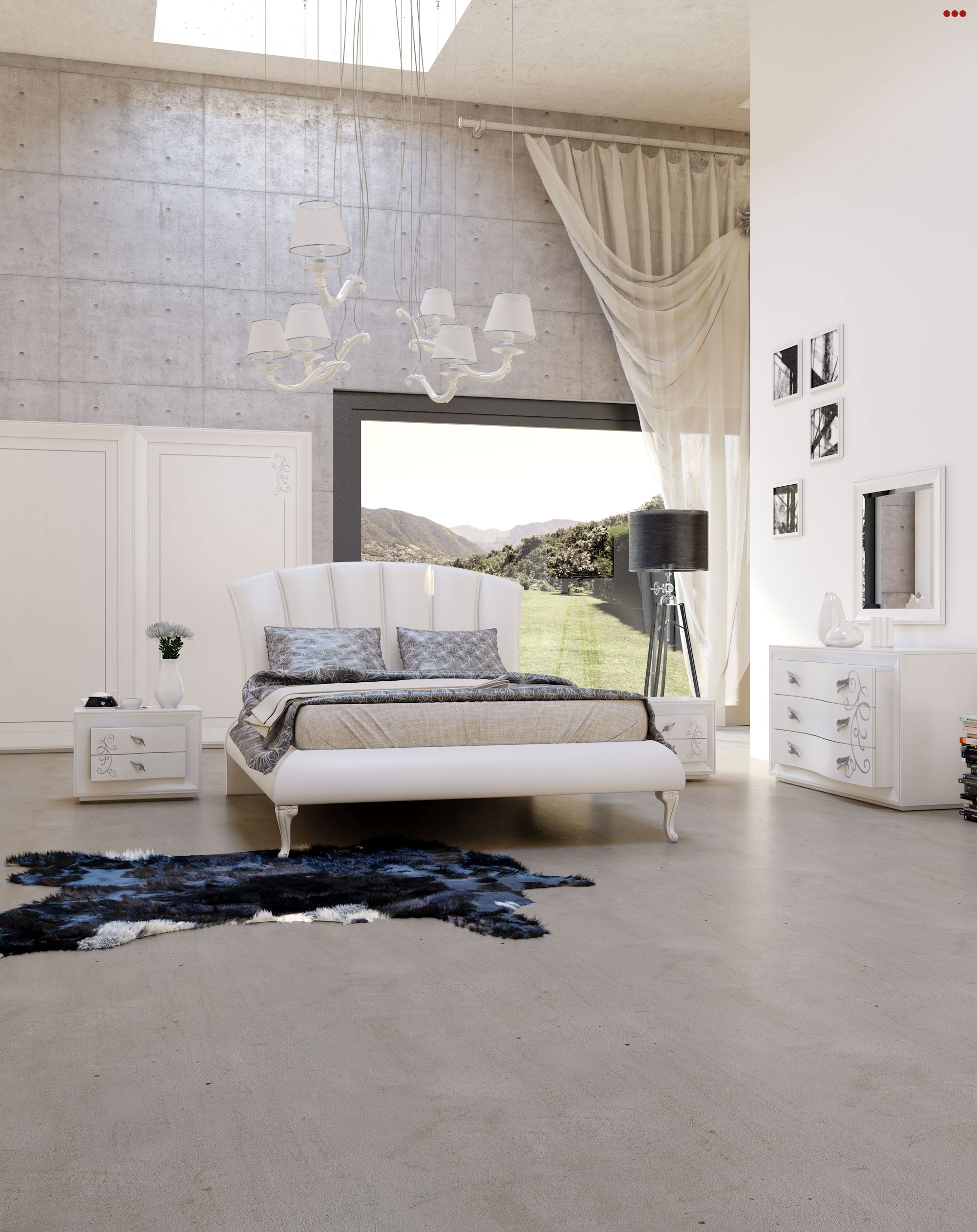 Studio Bartolini rendering progettazione 3d mobile classico catalogo euro design 2013 camera M cose di casa