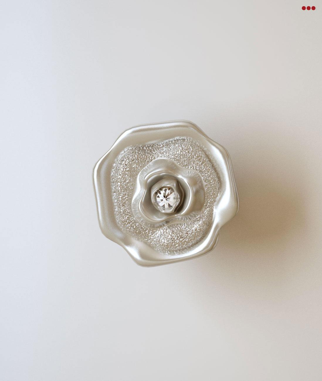 Studio Bartolini rendering progettazione 3d mobile classico catalogo euro design 2013 particolare pomolo pomello diamantato