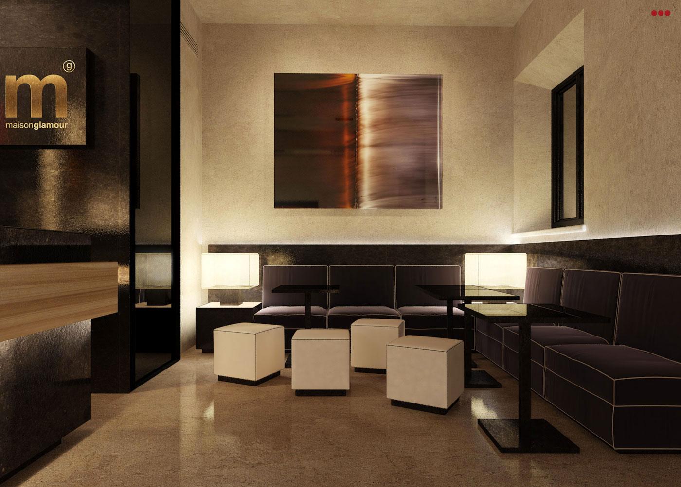 rendering progettazioine grafica 3d negozi bar contract ingresso bar Rimini Pesaro Riccione