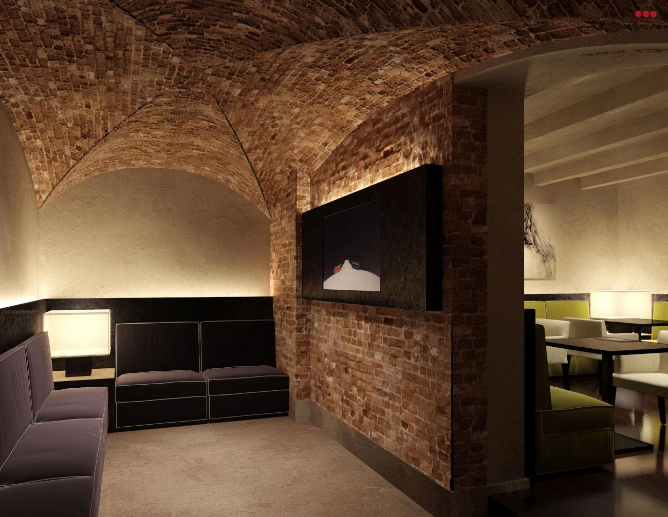 rendering progettazioine grafica 3d negozi bar contract sala esposizione Rimini Pesaro Riccione