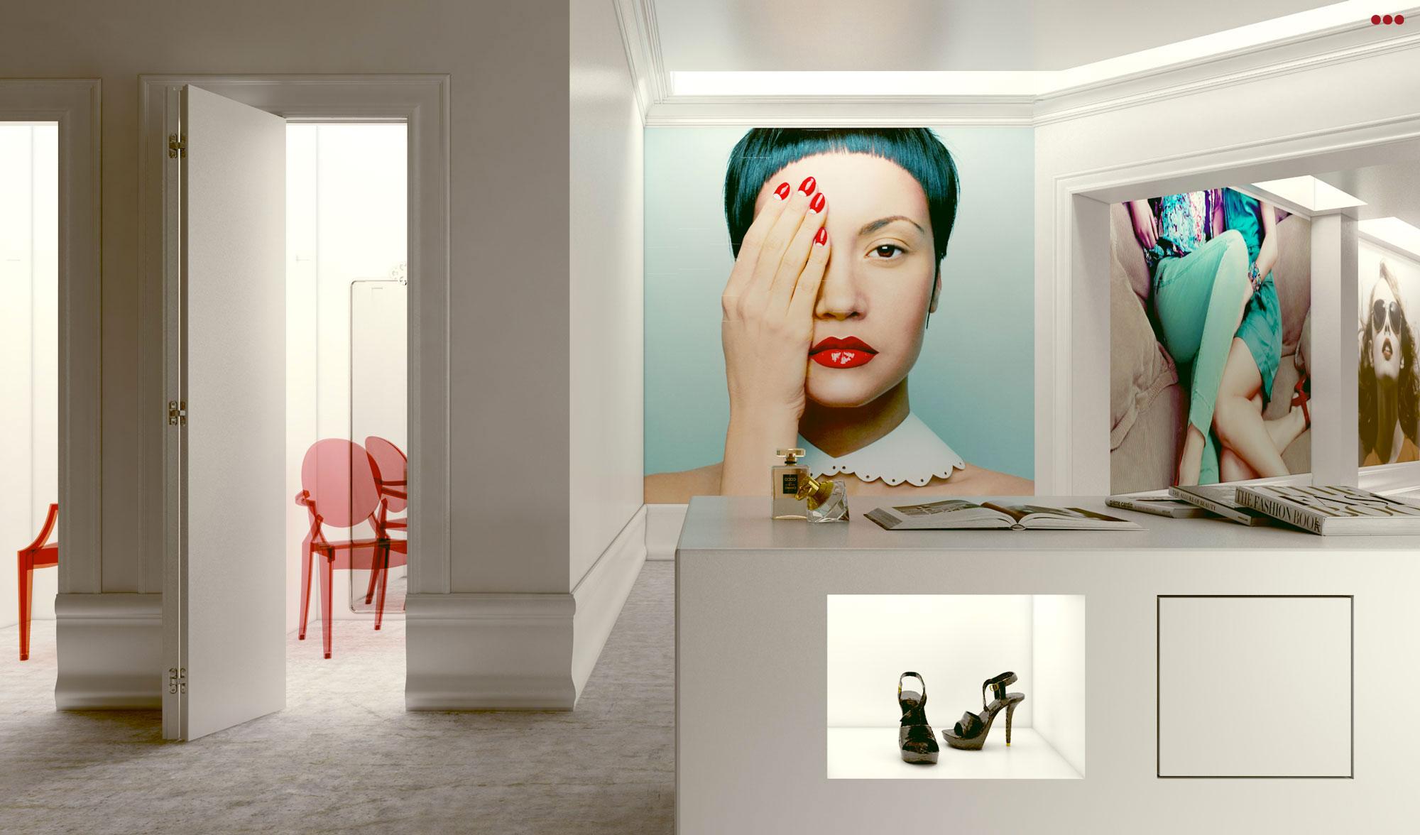 rendering progettazioine grafica 3d negozio contract moda design Rimini Pesaro Riccione 2